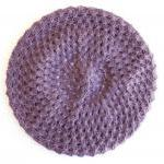 Beret knitted in lavender, ..